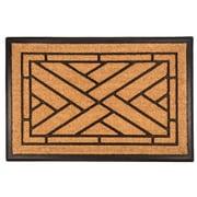 Entryways Bootscraper Diagonal Tiles Recycled Rubber and Coir Door Mat; 2' x 3'