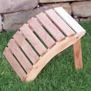 A&L Furniture Cedar Folding Ottoman; Redwood