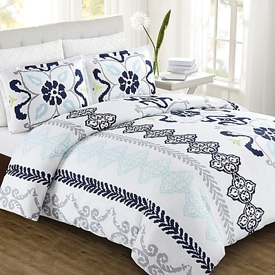 Echelon Home Zahara Duvet Cover Set; Full/Queen
