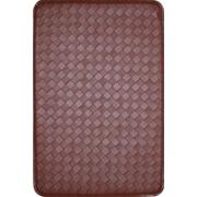 J&V Textiles Feel At Ease Mat (Set of 2); Red/Brown