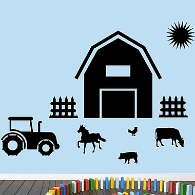 SweetumsWallDecals Farm Wall Decal; Black