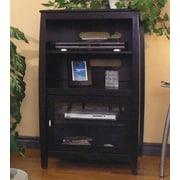 Red Barrel Studio Wood Audio Cabinet w/ Metal Handles; Black