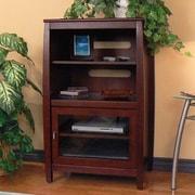 Red Barrel Studio Wood Audio Cabinet w/ Metal Handles; Walnut