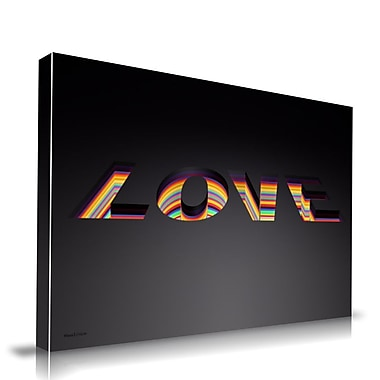 Maxwell Dickson Depth of Love Textual Art on Wrapped Canvas; 20'' H x 30'' W