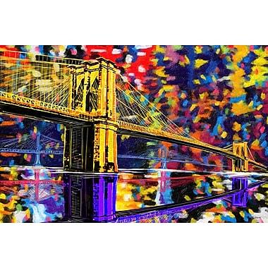 Maxwell Dickson ''Brooklyn Bridge'' Graphic Art on Canvas; 20'' H x 30'' W
