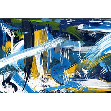 Maxwell Dickson Rushing River Graphic Art on Canvas; 20'' H x 30'' W