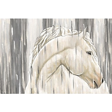Maxwell Dickson ''White Horse'' Painting Print on Canvas; 20'' H x 30'' W