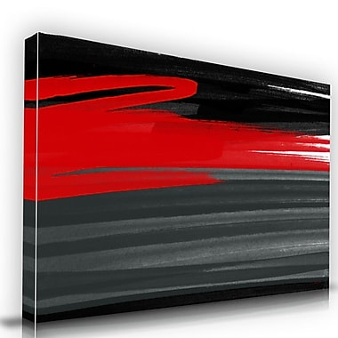 Maxwell Dickson ''Rouge'' Graphic Art on Canvas; 40'' H x 60'' W