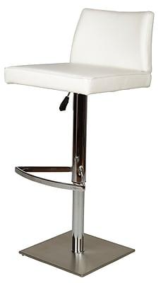 Whiteline Imports Medusa Adjustable Height Swivel Bar Stool; White