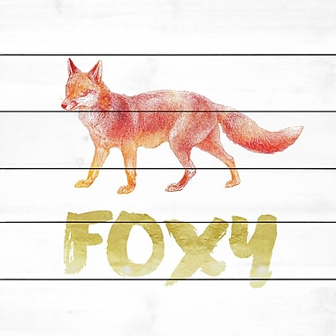 Marmont Hill 'Foxy' by Amanda Greenwood Painting Print on White Wood; 18'' H x 18'' W x 1.5'' D