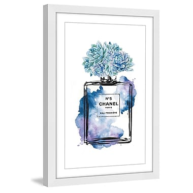 Marmont Hill 'Floral Blue' by Amanda Greenwood Framed Painting Print; 45'' H x 30'' W x 1.5'' D