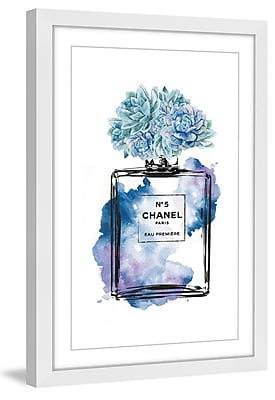 Marmont Hill 'Floral Blue' by Amanda Greenwood Framed Painting Print; 60'' H x 40'' W x 1.5'' D