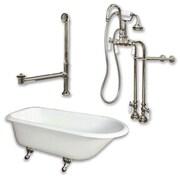 Cambridge Plumbing 55'' L x 30'' W  Bathtub; Brushed Nickel