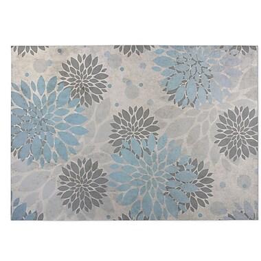 Kavka Bloom Indoor/Outdoor Doormat; Blue/Gray