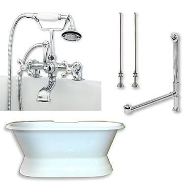 Cambridge Plumbing 71'' L x 30'' W Bathtub; Polished Chrome