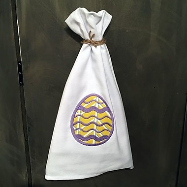 Samantha Grace Designs Egyptian Quality Cotton Huck Holiday Applique Easter Egg Hand Towel