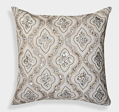 A1 Home Collections LLC Decorative Organza Handcrafted Cotton Throw Pillow