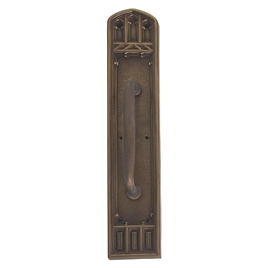 BRASS Accents Oxford Pull Handle/Plate; Aged Brass