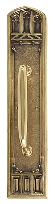 BRASS Accents Oxford Pull Handle/Plate; Highlighted Brass