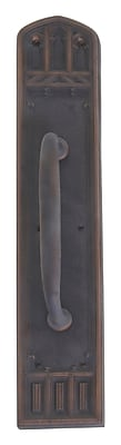 BRASS Accents Oxford Pull Handle/Plate; Oil Rubbed Bronze