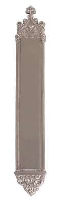 BRASS Accents Gothic Push Plate; Satin Nickel