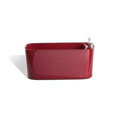 Algreen Modena Self-Watering Plastic Planter Box; High Gloss Red