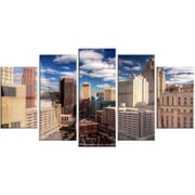 DesignArt 'Amazing Urban City w/ Skyline' 5 Piece Photographic Print on Canvas Set