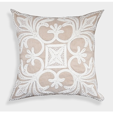 A1 Home Collections LLC Decorative Organza French Knot Linen Throw Pillow