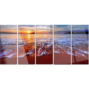 DesignArt 'Colorful Sunset w/ Bright Waters' 5 Piece Photographic Print on Canvas Set