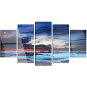 DesignArt 'Colorful Traditional Asian Boats' 5 Piece Photographic Print on Canvas Set