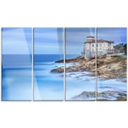DesignArt 'Beautiful Italian Seashore View' 4 Piece Photographic Print on Canvas Set