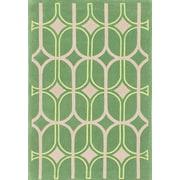 ECARPETGALLERY Abstract Art Hand Woven Green Area Rug