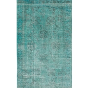 ECARPETGALLERY Transition Hand-Knotted Green Area Rug