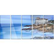 DesignArt 'Beautiful Italian Seashore View' 5 Piece Photographic Print on Canvas Set