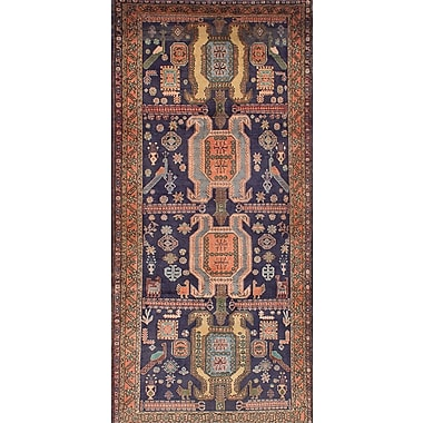 Bloomsbury Market Lin Hand-Knotted Blue/Brown Area Rug