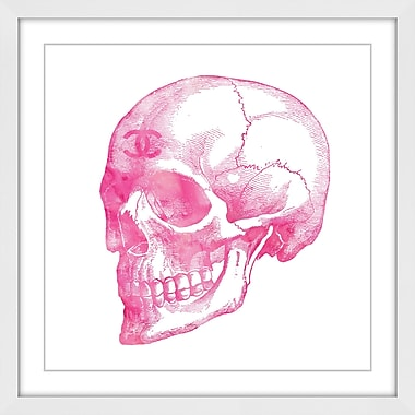 Marmont Hill 'Skull Pink' by Amanda Greenwood Framed Painting Print; 48'' H x 48'' W x 1.5'' D