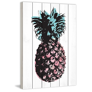 Marmont Hill 'Pineapple Multi' by Amanda Greenwood Painting Print on White Wood