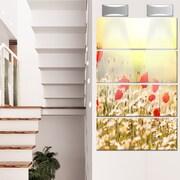 DesignArt 'Wild Meadow w/ Poppy Flowers' 4 Piece Photographic Print on Canvas Set