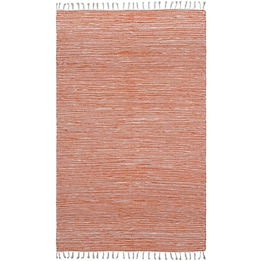 St. Croix Complex Hand-Loomed Orange Area Rug; 3' x 5'