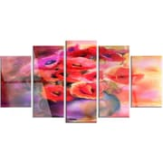 DesignArt 'Bouquet of Cute Poppies in Vase' 5 Piece Painting Print on Canvas Set