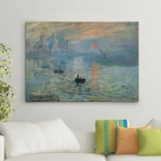 Charlton Home 'Impression Sunrise' by Claude Monet Painting Print on Canvas