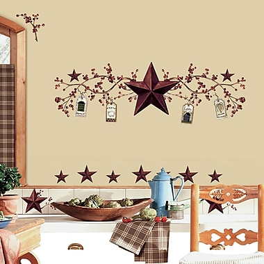Wallhogs Country Stars Berries Wall Decal