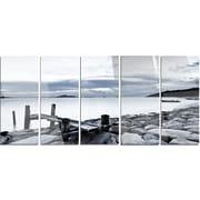 DesignArt 'Small Sea Bridge from Rocky Beach' 5 Piece Photographic Print on Canvas Set