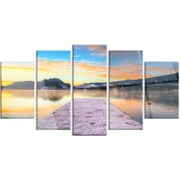 DesignArt 'Bled w/ Lake in Winter Slovenia' 5 Piece Photographic Print on Canvas Set