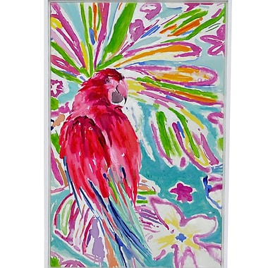 Three Hands Co. 'Tropical Parrot' Framed Painting Print