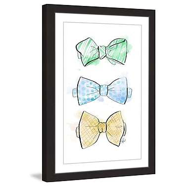 Marmont Hill 'Bow Tie Fun' by Alison Petrie Framed Painting Print; 45'' H x 30'' W x 1.5'' D