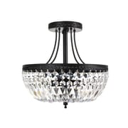 JoJoSpring Jessica Crystal Basket 3-Light Semi Flush Mount