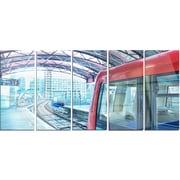DesignArt 'Departing London Subway Train' 5 Piece Photographic Print on Canvas Set