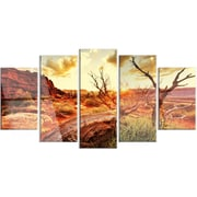 DesignArt 'Colorful Fall American Prairie' 5 Piece Photographic Print on Canvas Set