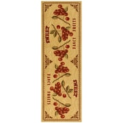 Ottomanson Siesta Kitchen Fruits Design Non-Slip Beige Area Rug